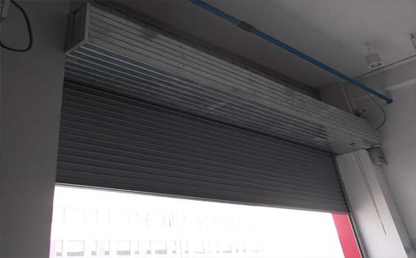 Steel fire shutter door