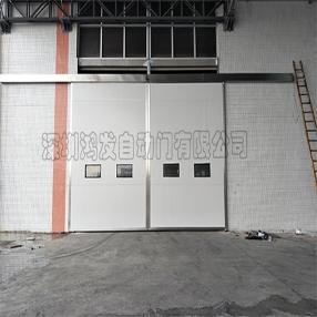 小型钢制平移门仓库门照片
