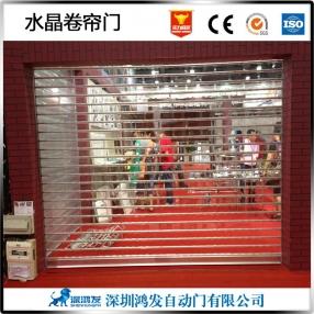 惠州透明水晶卷帘门